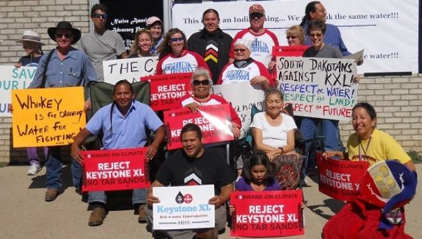 Members of the Yankton Sioux protested the Keystone XL Pipeline in 2013.