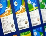 The tickets for the 2016 Rio Olympics are presented in Rio de Janeiro, Brazil.