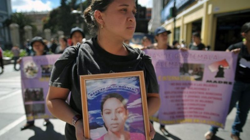 Women remember victims of gender violence in Guatemala.