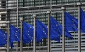 European flags are seen outside the European Commission headquarters in Brussels September 10, 2014.