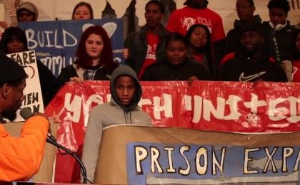 Demonstrations against prison expansion, including the incarceration of youth.