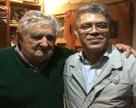 The revolutionary leader Elias Jaua met with the social activist and former president of Uruguay, Jose Mujica.