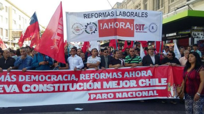 Los sindicatos realizarán una marcha en la capital chilena.