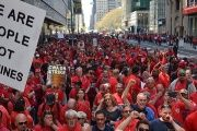Striking Verizon workers and supporters held rallies throughout the country.