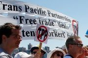 Anti-TPP Protesters in New South Wales, Australia