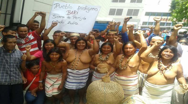 Los participantes de la marcha provienen de los estados Amazonas, Zulia, Sucre, Bolívar, entre otros.
