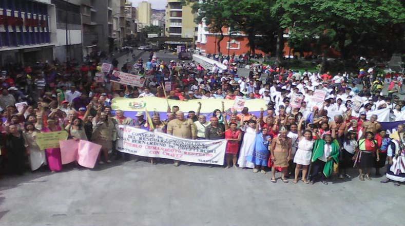 La marcha tiene como propósito respaldar el gobierno constitucional del presidente Nicolás Maduro.