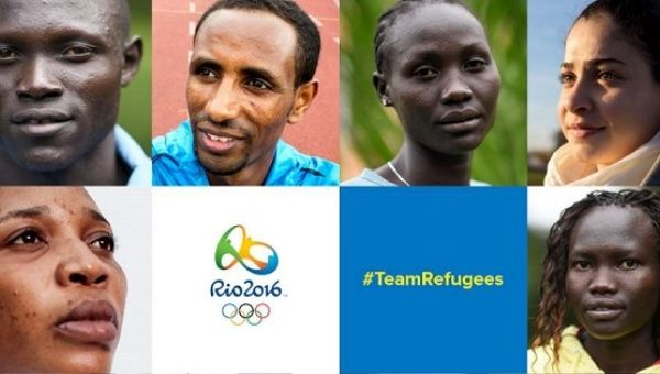 Some of the 10 refugees who have been selected to form the first-ever Refugee Olympic Athletes team.