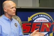 Florida governor Rick Scott announced the state's emergency plans