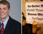 Brock Allen Turner (L) was found guilty of rape but his father believes the sentence is unfair.