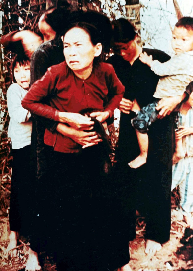 Unidentified Vietnamese women and children before being killed in the My Lai Massacre.