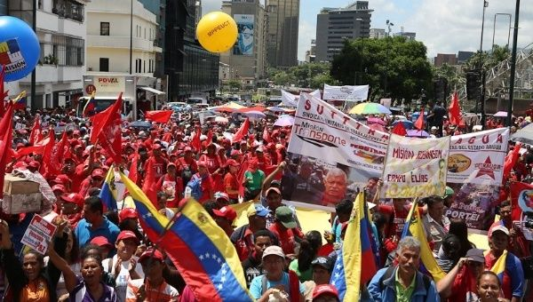 Massive rally in Caracas from supporters of President Nicolas Maduro