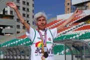 Adela Carrasco Avendano is Bolivia's most famous elderly athlete.
