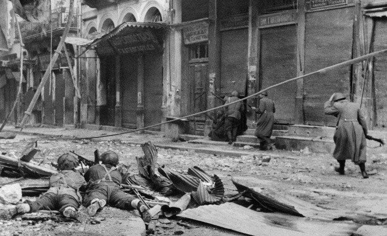 The British Army under the guidance of Churchill perpetrated a massacre on the streets of Athens in the month of December 1944. 28 protesters were shot dead, a further 128 injured. The British demanded that all guerrilla groups should disarm on the 2nd December 1944. The following day 200,000 marched against these demands, and this is when the British Army under Churchill's orders turned their guns on the people.