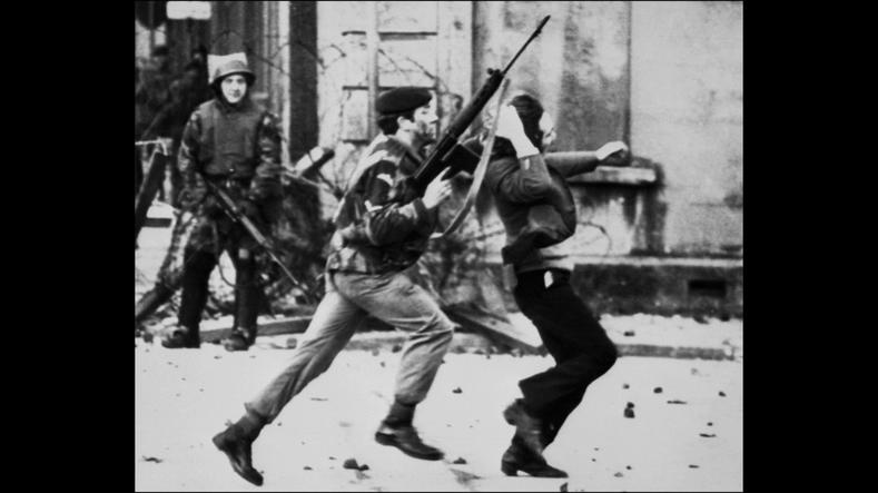"Bloody Sunday massacre, Ireland, 1972: A British soldier drags a protester during a march, later known as ""Bloody Sunday,"" in Londonderry, Northern Ireland. On the 30th January 1972 14 unarmed civilians shot dead by the British Army on the streets of the Irish city of Derry. Shortly after the massacre the Queen decorated Derek Wilford who commanded the Parachute Regiment and went on to give honours to Mike Jackson who spread lies about the victims."
