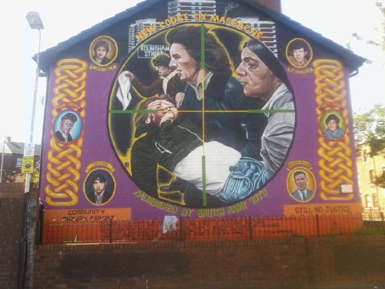 New Lodge massacre, Ireland, 1973: On the night and early morning of the 3rd and 4th of February 1973, six young local men from the New Lodge Road area of North Belfast were shot dead in a coordinated attackby the British Army and a loyalist death squad.