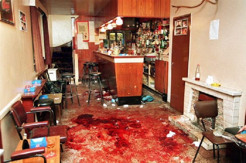 Loughinisland massacre, Ireland, 1994: On the 18th June 1994 in the village of Loughinisland members of the British backed terror outfit the UVF burst into a pub with assault rifles and fired on customers. Six people were killed.  Britain overtly and covertly colluded with death squads in Ireland. The British-funded report that was released in June 2016 couldn't conceal this fact any longer.