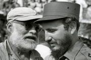 Hemingway and Castro during the Ernest Hemingway Marlin Fishing Tournament at Marlovento Marina on May 15, 1960.