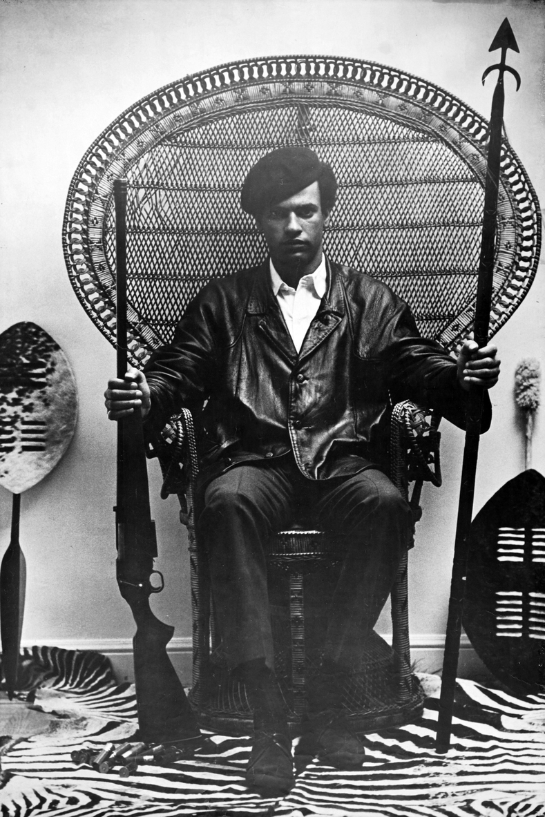 "Black Panther Party co-founder and Minister of Defense Huey P. Newton. The Black Panthers were a revolutionary nationalist and Marxist-Leninist organization that quickly expanded throughout Black neighborhoods in the late 60s.  ""Black Power to Black people, Brown Power to brown people, Yellow Power to yellow people, all Power to all People""- Huey P. Newton"