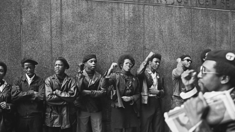 On May 2, 1967, Black Panthers amassed at the Capitol in Sacramento brandishing guns to protest a bill before an Assembly committee restricting the carrying of arms in public. Self-defense was a key part of the Panthers