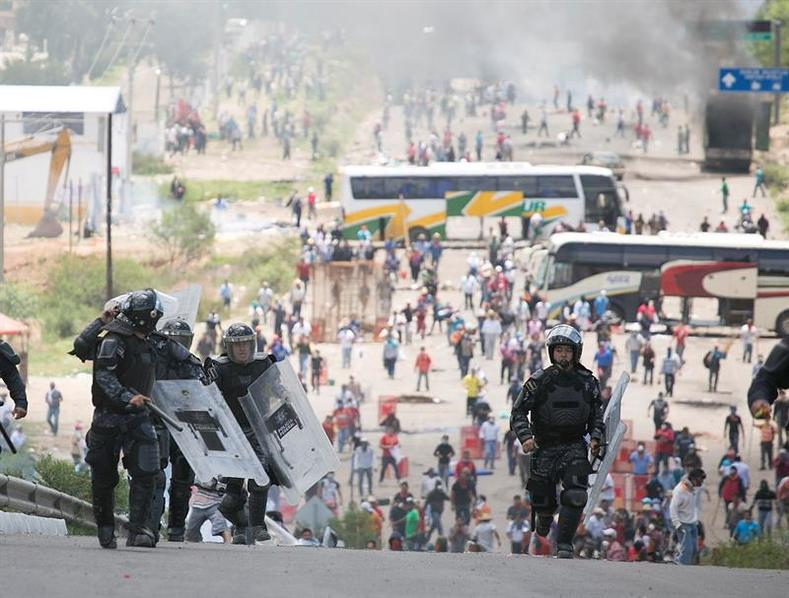 In Mexico, common protest tactics include shutting down major highways or staging protest camps in front of government offices.
