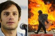 Mexican actor Gael Garcia Bernal has condemned brutality by the Mexican police in Oaxaca.