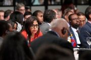 Venezuela's Foreign Minister Delcy Rodriguez participates in the 46th General Assembly of the OAS in Santo Domingo, Dominican Republic.