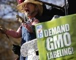 A man performs during a rally in support of an initiative that would require mandatory labeling of genetically modified food products in California.
