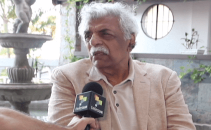 Tariq Ali talking to teleSUR.