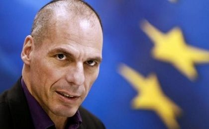 Greek Finance Minister Yanis Varoufakis speaks during a news conference to present the ministry