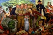 "Mexican painter Diego Rivera's mural ""Glorious Victory"" indicts the 1954 U.S. coup in Guatemala."