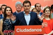 Ciudadanos party leader Albert Rivera after Spain's general election