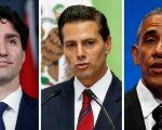 Canadian Prime Minister Justin Trudeau, Mexican President Enrique Peña Nieto, and U.S. President Barack Oabam