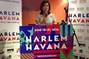 Kathy Hochul, lieutenant governor of New York State, announcing the Harlem/Havana Music & Cultural Festival in NYC.