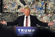 Republican U.S. presidential candidate Donald Trump delivers a speech at Alumisourse, a metals recycling facility, in Monessen, Pennsylvania, June 28, 2016.