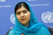 Malala during a speech at the U.N.