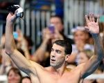 Michael Phelps reacts after the finals for the U.S. men's 200-meter butterfly.