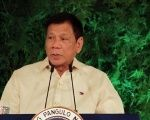 President Rodrigo Duterte delivers his inaugural speech as the president of the Philippines at the Malacanang Palace in Manila, June 30, 2016. |