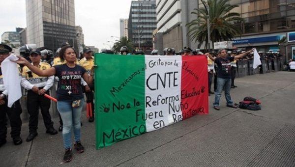 Meksika: CNTE Ülke Çapında Süresiz Genel Greve Hazırlanıyor