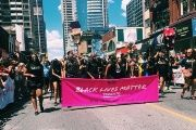 Members of Black Lives Matter Toronto at Toronto Pride.