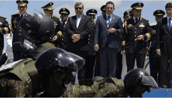 President Jimmy Morales holds a military parade, something that was prohibited for over a decade out of respect for the victims of the military genocide.