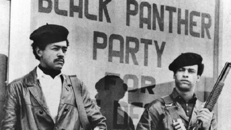 Bobby Seale (L) and Huey Newton (R) co-founded the Black Panther Party for Self-Defense in 1966.