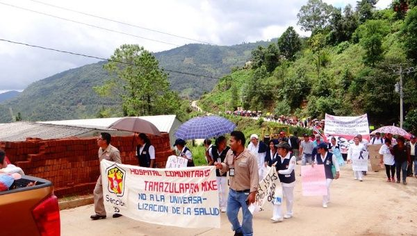 March by the communities of the Ayuujk people, June 22, 2016