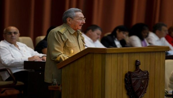 Cuban President Raul Castro at the National Assembly, in Havana, Cuba.