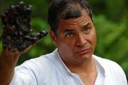 Ecuadorian President Rafael Correa has denounced Chevron's contamination of the Amazon rain forest.
