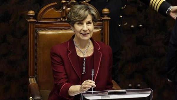 Senator for the Socialist Party Isabel Allende takes her seat as president of the Senate in Valparaiso, March 11, 2014.