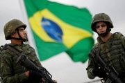 Brazilian marines take part in a security exercise ahead of the 2016 Olympics in Rio de Janeiro, Brazil, July 21, 2016.
