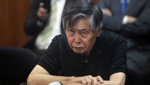 Former President Alberto Fujimori, during an appeal session to the Supreme Court, October 2013.