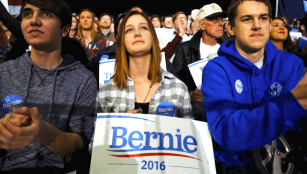 Sanders supporters in January feeling the Bern.