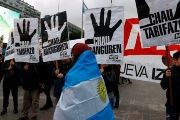 Demonstrators protest against increases in electricity and gas prices in Buenos Aires, Argentina, July 14, 2016.
